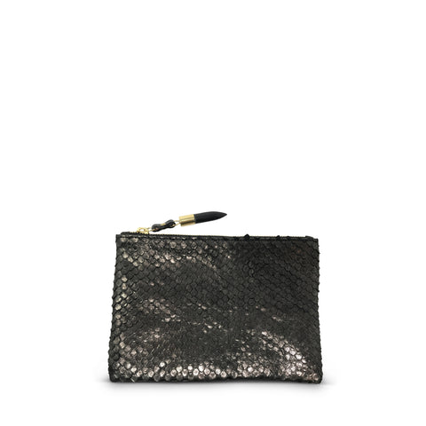 Pewter Flake Cosmetic Case