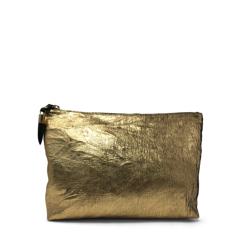 Metallic Rain Silver Small Pouch