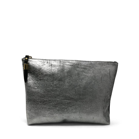 Bronze Metallic Rain Medium Clutch