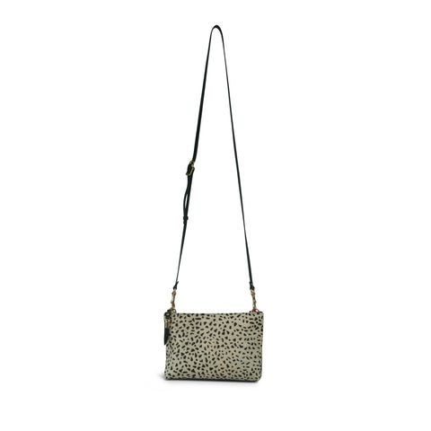 Diamond Perforated Small Pouch - Storm Grey