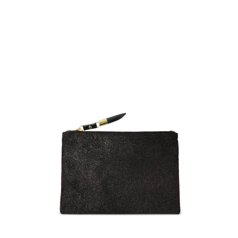 SAMPLE SALE 2019 - Granite and Black Skinny Pouch (ALL SALES FINAL)