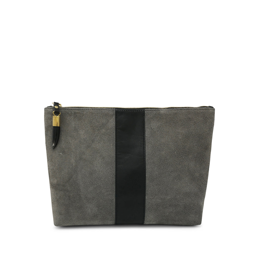 Storm Suede/Black Stripe Medium Pouch