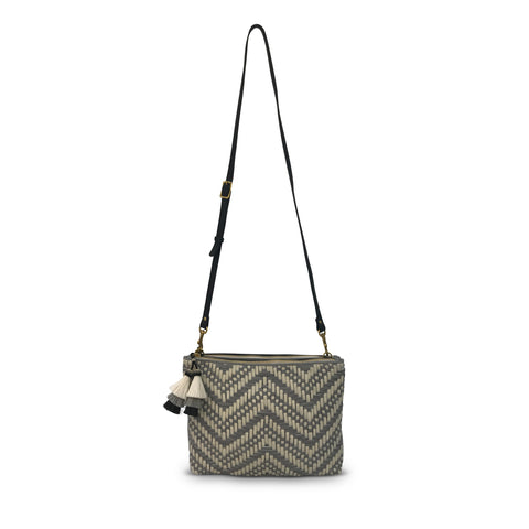 Woven Black and White Cometic Bag
