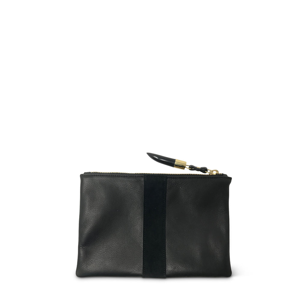 Black Leather Small Pouch