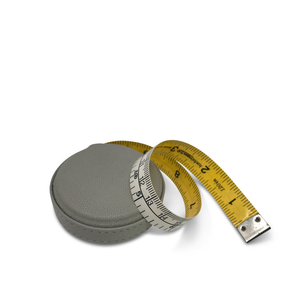 Leather Tape Measure - Light Gray