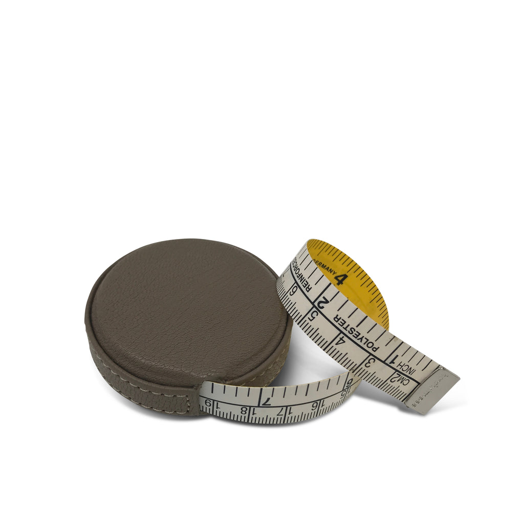 Leather Tape Measure - Taupe