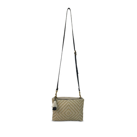 SAMPLE: Pewter Chevron Nottingham Crossbody