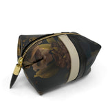 Black Peony and Dark Camo Cosmetic Case