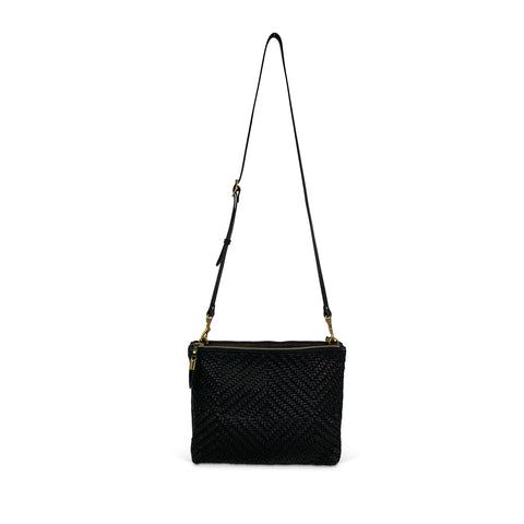 Black Woven Cosmetic Case