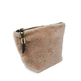 Blush Shearling Makeup Bag