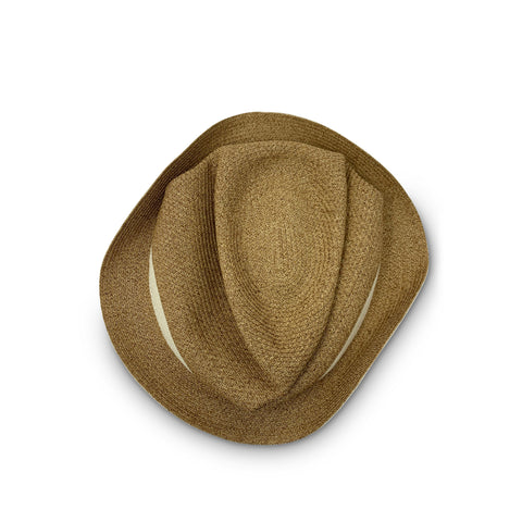 Mature Ha - Boxed Hat - Mix Brown with Light Brown Leather