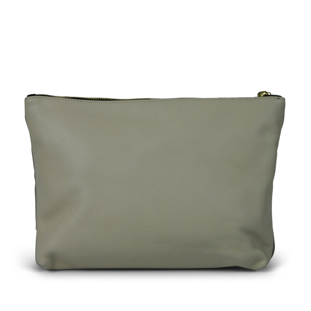 Shimmer Medium Clutch - Canvas and Leather