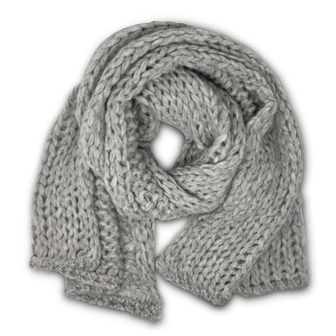 WOOL/CASHMERE FEATHERWEIGHT SCARF - Charcoal & Grey