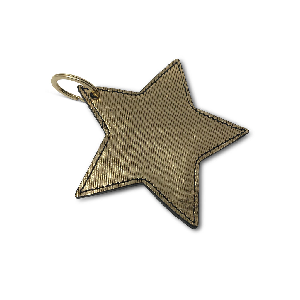 Kempton & Co. Star Keychain Metallic Rain Gold