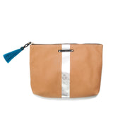 Nutmeg/Silver Medium Tassel Pouch