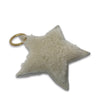 Shearling Star Keyring - Natural