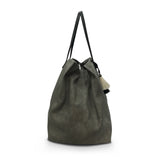 Oversized Diamond Perf Tote - Storm Grey