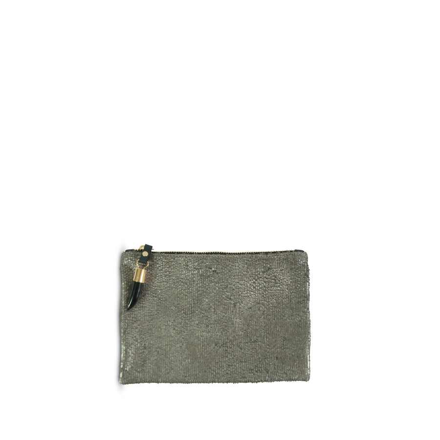 Pewter Flake Small Pouch