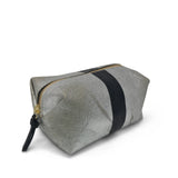 Metallic Canvas Black Cosmetic Case-Silver/Black