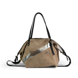 Safari Silver Stripe Crossbody - Large