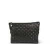 Black Studded Medium Clutch