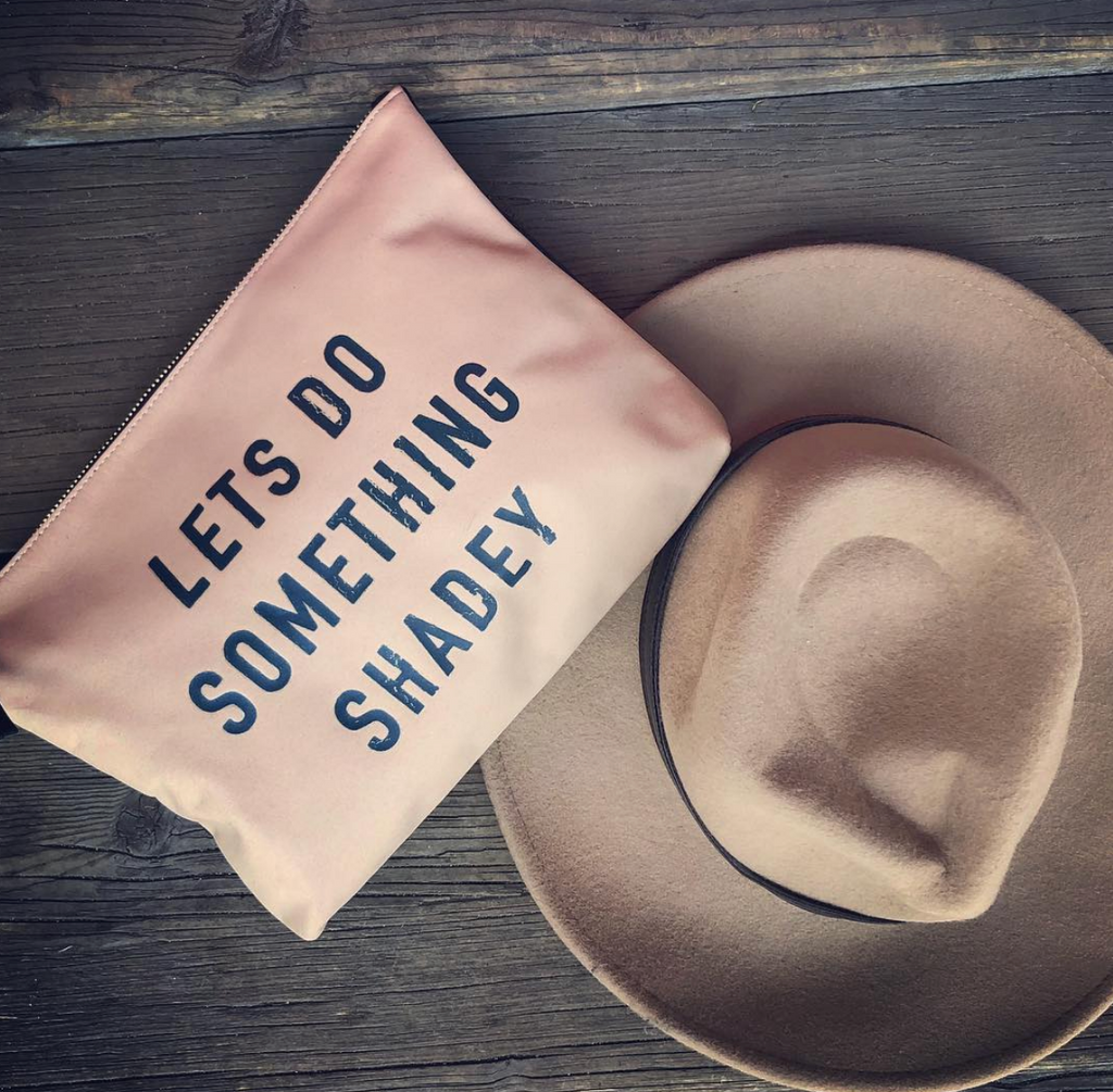 """Let's Do Something Shadey"" Medium Pouch"
