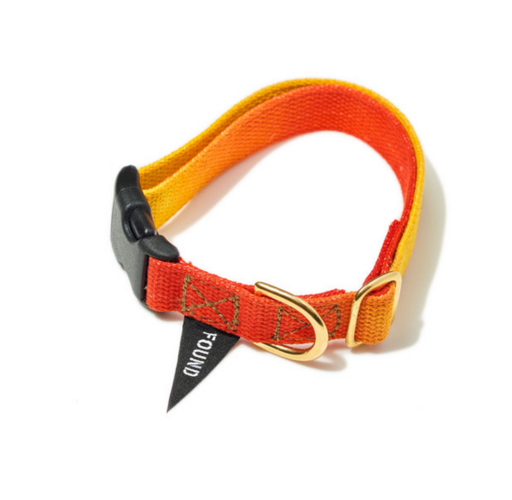 RED TO YELLOW COTTON CAT & DOG COLLAR designed by FOUND MY ANIMAL