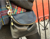 Mini Windbourne Leather Crossbody - Black, with Kenyan Toggle