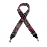 Fuschia, Grey and Mauve Bag Strap