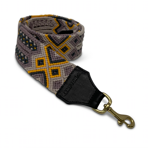 Aqua, Mustard and Black Bag Strap