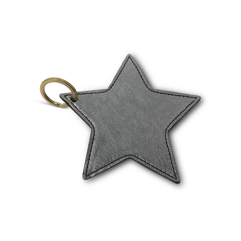 Kempton & Co. Star Keychain Metallic Rain Silver