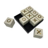 Bone Tic Tac Toe - White/Gold