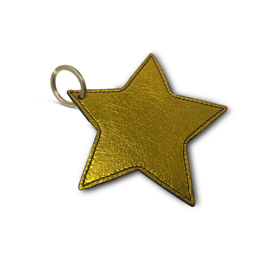 Kempton & Co. Star Keychain Yellow Foil