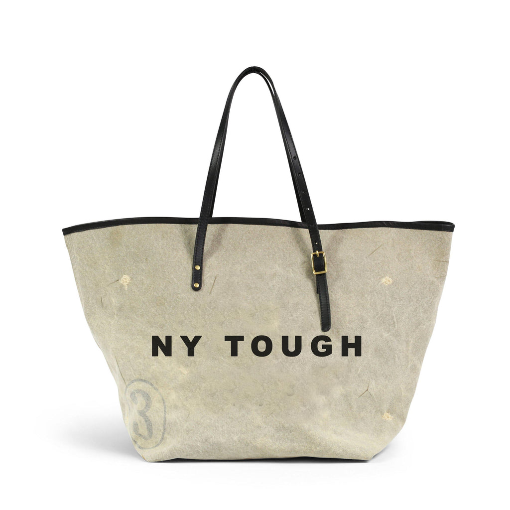 NY TOUGH DISTRESSED CANVAS TOTE