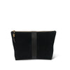 Black Leather Medium Pouch