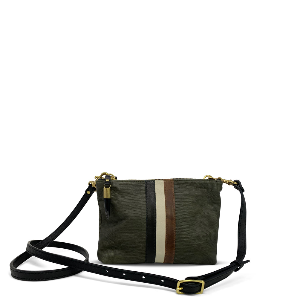 Olive Petite Lizard Nottingham Crossbody
