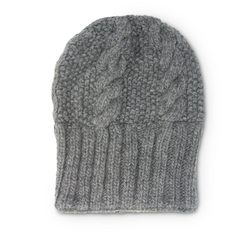 Cashmere Ribbed Beanie Hat - Tiger