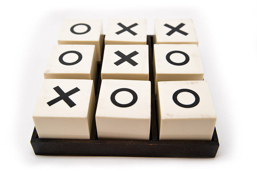 Bone Tic Tac Toe - Black