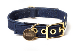 DENIM CAT & DOG COLLAR designed by FOUND MY ANIMAL - Blue Denim