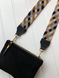 Grey, Blush and Mustard Bag Strap
