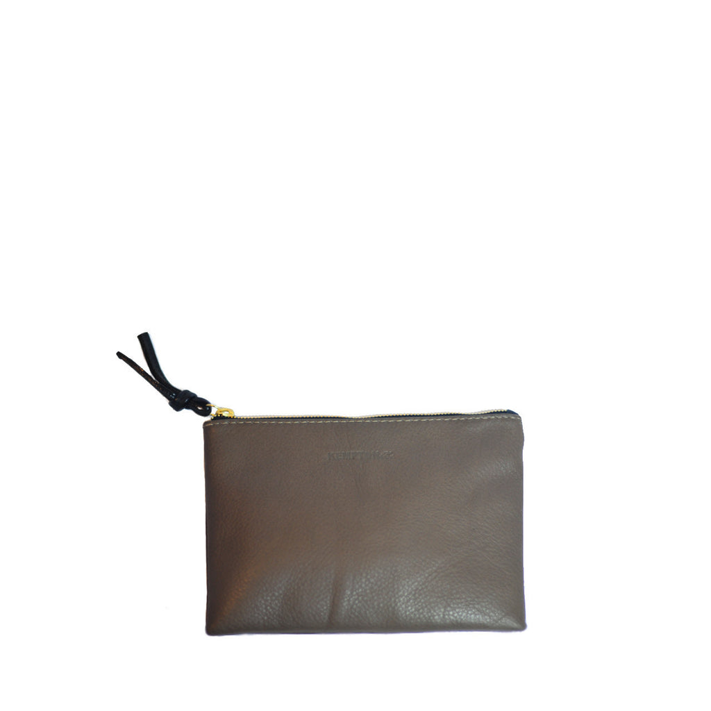 Small Leather Pouch Bag - Truffle