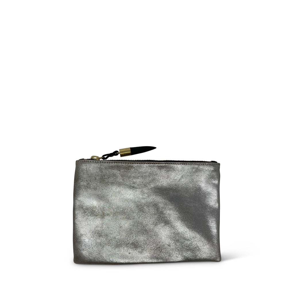 Silver Distressed Small Pouch