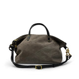 Taupe Distressed Glitter Devon Holdall