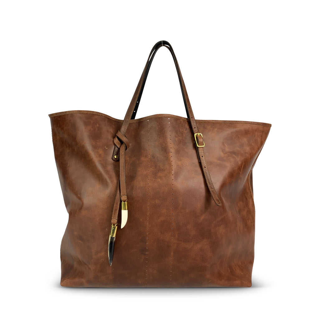 Brandy Old English Tote