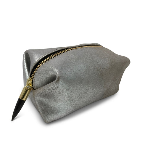 Medium Leather Clutch - Bronze and Black