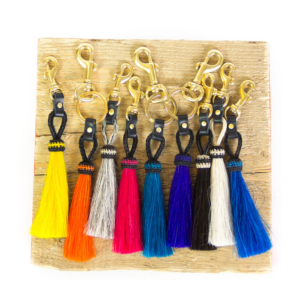 Horse Hair Tassel Clip - Orange