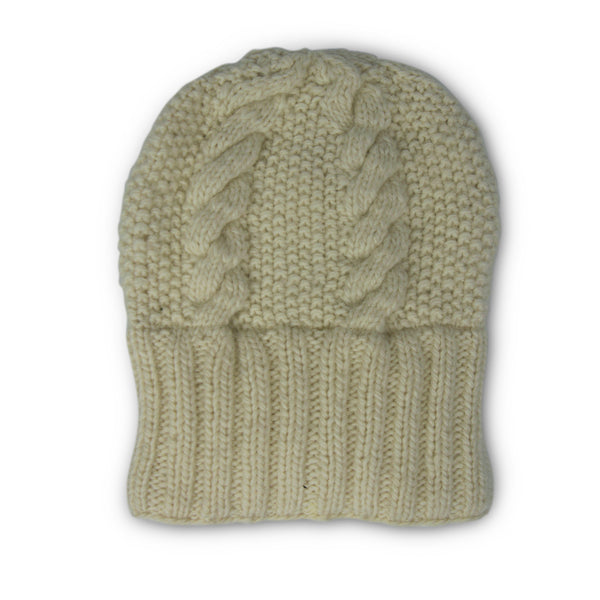 Oversized Merino Cable Slouchy Beanie - Natural – Kempton   Co. 225275cdb90