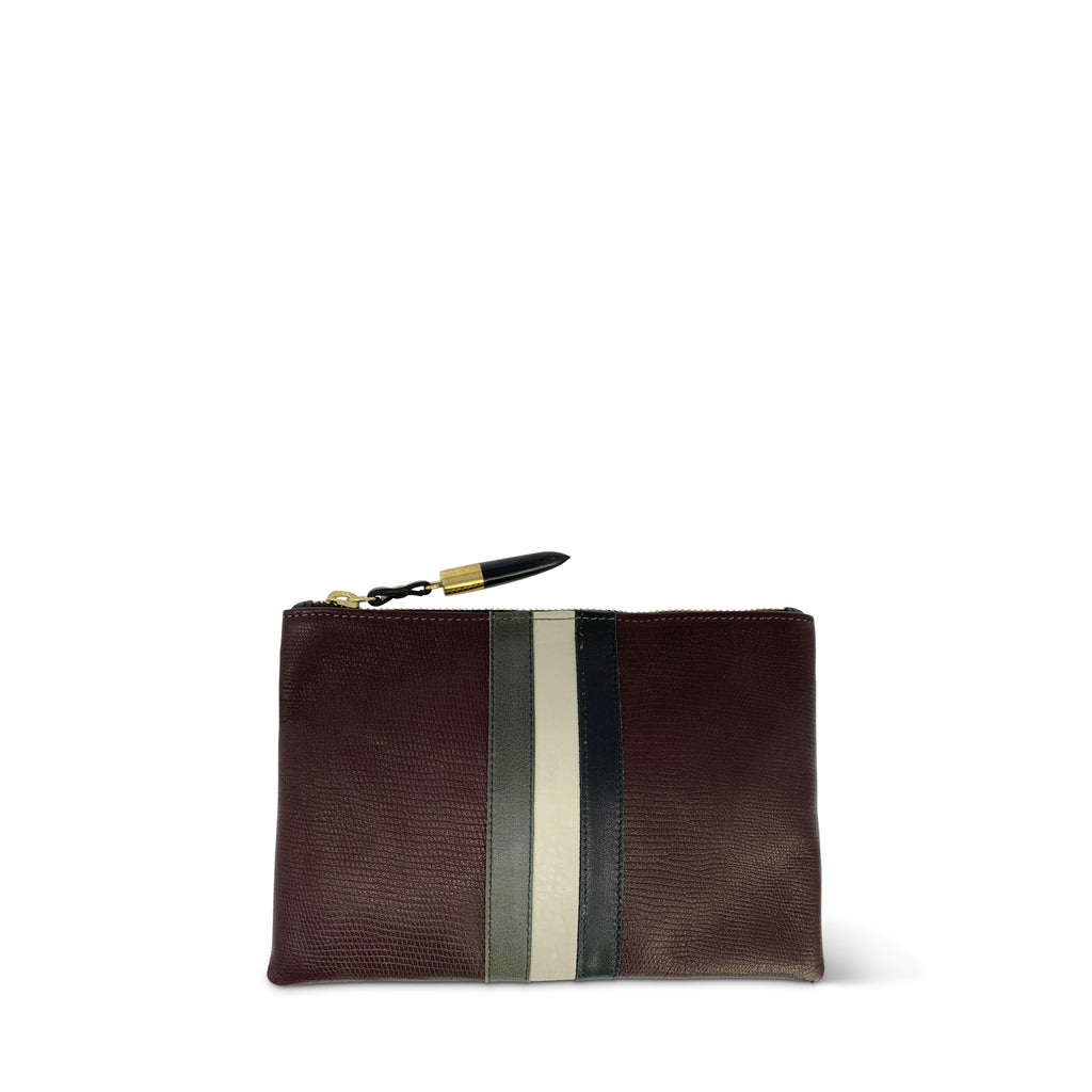 Oxblood Petite Lizard Small Pouch