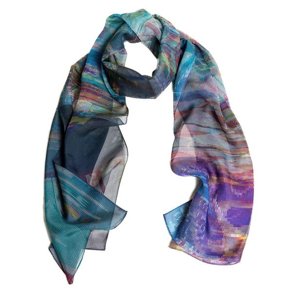 Time Square Based Silk Scarf