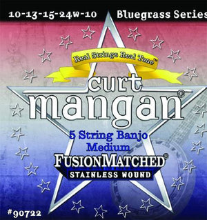 Curt Mangan 5-String Banjo Medium Stainless String Set